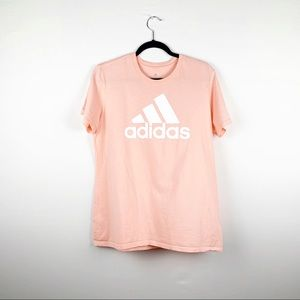 adidas Amplifier Coral Logo Short Sleeve T-shirt